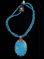 Pendant signed $269.00 #0766, 2 Strand Turquoise necklace $42.00 #4024
