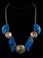 Varicite, Rose Bronze Necklace $ 225.00 #6546