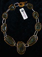 Steel, Rose Bronze Necklace $285.00 #6542