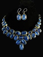 Large Kyanite Necklace $485.00 #4160,  Kyanite Earrings $ 66.00 #5541