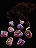 Amethyst in a Black  Velvet Bag $ 48.00 #2579